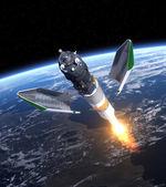 "Launch Of Cargo Spacecraft ""Progress"" — Stock Photo"