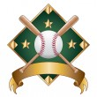 Baseball Design Template Diamond — ストックベクタ