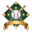 diamante di baseball design modello — Vettoriale Stock