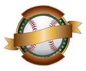 Nastro modello disegno di baseball — Vettoriale Stock
