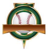 Baseball Design Template Triangle — Stock Vector