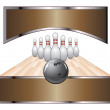 Bowling Design Template Banner — Stock Vector