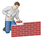 Bricklayer — Stock Vector
