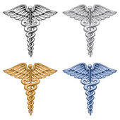 Caduceus Medical Symbol — ストックベクタ