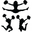 Cheerleaders - Stock Vector