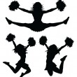Stock Vector: Cheerleaders