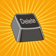 Stock Vector: Delete Key