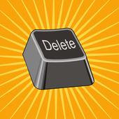 Delete Key — Stock Vector
