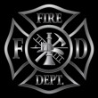 Fire Department Cross Silver — Imagen vectorial