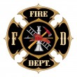 Fire Department Maltese Cross Vintage — Imagen vectorial