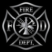 Fire Department Cross Silver — Vector de stock
