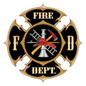 Fire Department Maltese Cross Vintage — Stock Vector