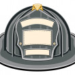 Stock Vector: Firefighter Helmet