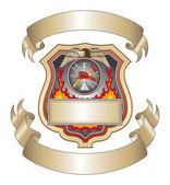 Strażak Tarcza iii — Wektor stockowy