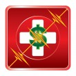 First Aid Medical Cost Symbol — Stock vektor