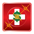First Aid Medical Cost Symbol — Stok Vektör