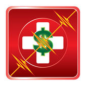First Aid Medical Cost Symbol — Stock Vector