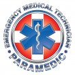 EMT Paramedic Medical Design Cross — Stock Vector