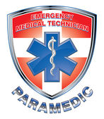 EMT Paramedic Medical Design Shield — Stock Vector