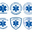 Stok Vektör: EMT Paramedic Medical Designs