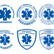 EMT Paramedic Medical Designs — Stok Vektör