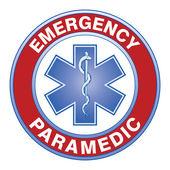 Paramedik sağlık tasarım — Stok Vektör