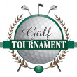 Постер, плакат: Golf Tournament Clubs Design