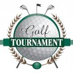 Golf Tournament Clubs Design — Stock Vector
