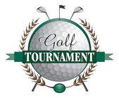 Progettazione club torneo di golf — Vettoriale Stock