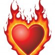 Heart Burn — Stock Vector
