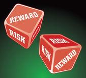 Dadi ricompensa rischio — Vettoriale Stock