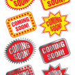 Coming Soon Labels — Stock Vector