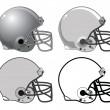 Football Helmets — Stock Vector #34262991