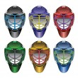 Stock Vector: Ice Hockey Goalie Masks