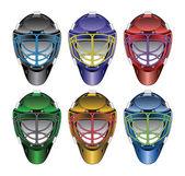 Ice Hockey Goalie Masks — Stock Vector