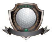 Golf Design Shield — Stockvector