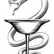Pharmacy Snake and Cup Medical Symbol — Stock Vector #37973999