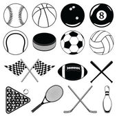 Sports Balls and Other Items — Stock Vector
