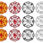 Firefighter Cross Symbol — Stock Vector #39050323