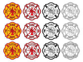 Firefighter Cross Symbol — Stock Vector