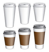 Coffee To Go Cups — Stock Vector