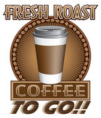 Coffee Fresh Roast To Go — Cтоковый вектор