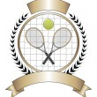 Stock Vector: Tennis Design Template Laurel
