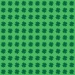 Four Leaf Clover or Shamrock Background - Seamless — Stok Vektör