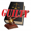 Stock Vector: Guilty Verdict