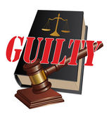 Guilty Verdict — Stock Vector