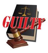 Guilty Verdict — Stock Vector
