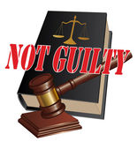 Not Guilty Verdict — Stock Vector