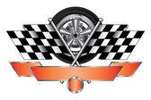 Racing Design With Wheel — Stock Vector