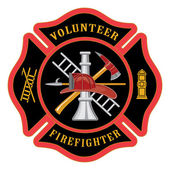 Volunteer Firefighter Maltese Cross — Stock Vector